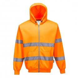 Portwest - Sweat zip HV à capuche - B305