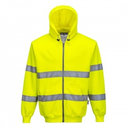 Portwest - Sweat zip HV à capuche - B305