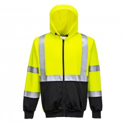 Portwest - Sweat HV bicolore zippé à capuche - B315